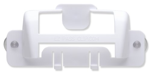 eZpassClip New EZ Pass Holder for New, Smaller EZ-Pass and Smaller I-Pass Toll Tag Transponders (White)