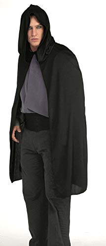Rubie's Hooded Cape 3/4 Length Costume, Black, One Size