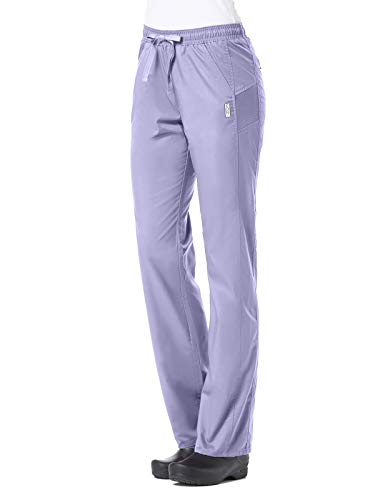 Maevn EON Active Sporty Mesh Panel Soft Scrub Pants (3X-Large, Lavender)