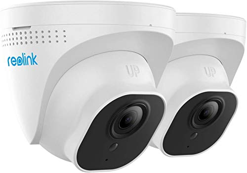 Reolink PoE IP Camera (Pack of 2) Outdoor 5MP HD Video Surveillance 5MP(2560x1920 at 30 FPS) Work with Google Assistant, Audio IR Night Vision, Motion Detection, Up to 256GB Micro SD Card, RLC-520