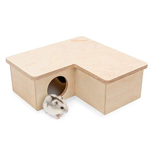 Niteangel Multi-Chamber Hamster House Maze: - Multi-Room Hideouts & Tunnel Exploring Toys for Hamster Gerbils Mice Lemmings (3-Room Small)