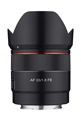 Rokinon 35mm F1.8 Auto Focus Compact Full Frame Wide Angle Lens for Sony E Mount, Black, IO3518-E
