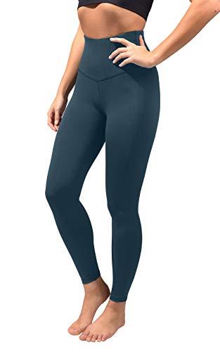 90 Degree By Reflex Womens High Waist Ankle Length Wonderflex Leggings with Super Wide Waistband - Spring Teal - Medium