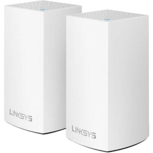 Linksys WHW0101-RM2-2PK Velop Mesh WiFi System Dual-Band AC2600, White, 2-Pack (Renewed)
