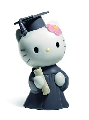 NAO Hello Kitty Graduation Day. Porcelain Hello Kitty Figure.