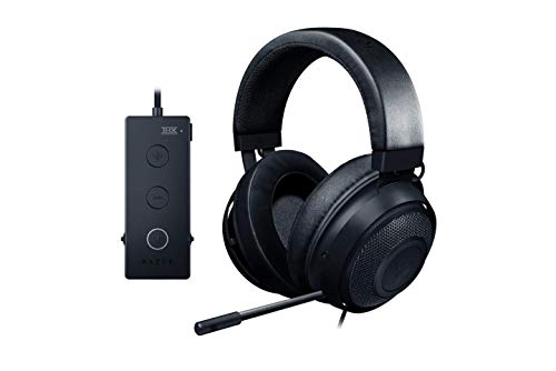 Razer Kraken Tournament Edition THX 7.1 Surround Sound Gaming Headset: Retractable Noise Cancelling Mic - USB DAC - For PC, PS4, PS5, Nintendo Switch, Xbox One, Xbox Series X & S, Mobile – Black