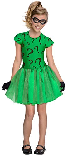 DC Super Villain Collection Riddler Girl's Costume with Tutu Dress, Toddler 1-2