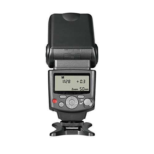Voking VK430 E-TTL LCD Display Speedlite Shoe Mount Flash for Canon EOS 70D 77D 80D Rebel T7i T6i T6s T6 T5i T5 T4i T3i SL2 and Other EOS DSLR Cameras with Standard Hot Shoe Stand