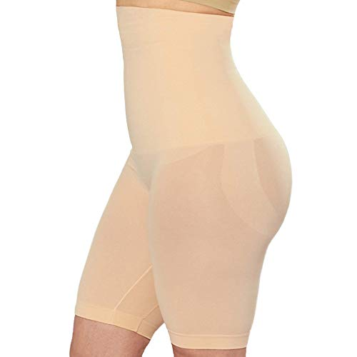 Shapermint Empetua High Waisted Body Shaper Shorts - Shapewear for Women Tummy Control Small to Plus-Size Nude XXX-Large