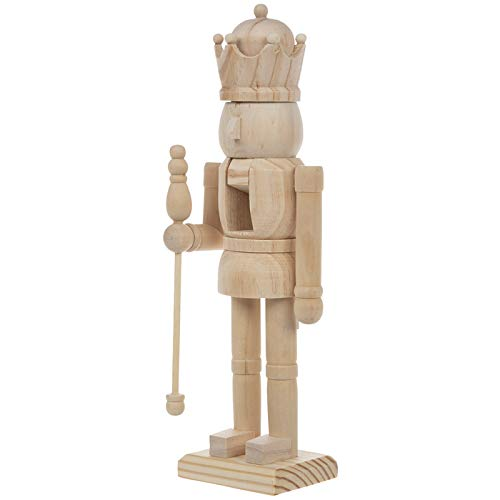 Wood Nutcracker With Staff Christmas Decoration Gift