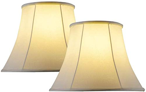 Lamp Shades for Table Lamps Set Of 2,Large Lampshade Bell White for Bedroom Lamp & Floor Lamp, 10x16x14 Inch,Simple Assembly Required, Spider