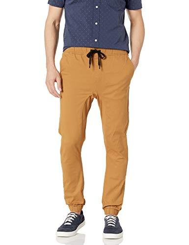 Southpole Men's Basic Stretch Twill Jogger Pants-Reg and Big & Tall Sizes, Tobacco, Medium