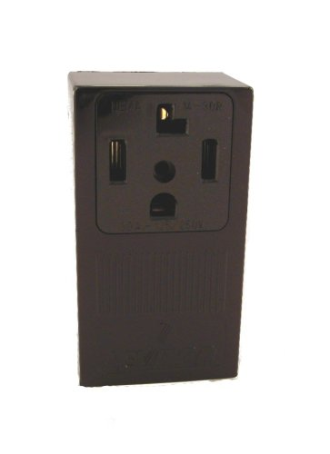 Leviton GIDDS-606573 55054 B01-000 Electrical Receptacle, 125/250 Vac, 30 A, 3 Pole, 4 Wire, Pack of 1, Black