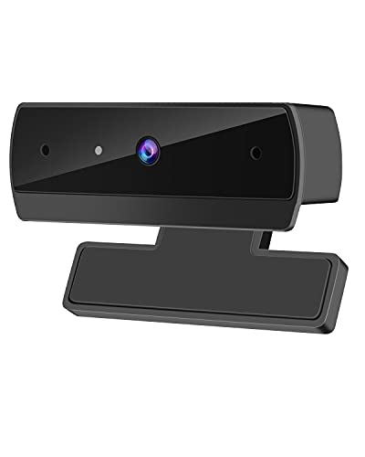 1080P Webcam with Microphone, HD USB Computer Camera for Streaming Online Class or Office, PC Mac Desktop Laptop, Plug and Play, for Zoom/Skype/Teams/OBS, Conferencing and Video Calling