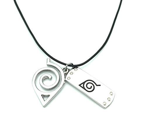 HappyShip Naruto Necklace Naruto Leaf Necklace Naruto Leaf Village Symbol Logo Pendant Necklace (A)
