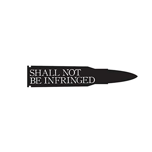 Car Waterproof Sticker Shall Not Be Infringed Bullet Decal Men's Present America Decal Tumbler Decal Car Decal Window Decal Military Decal Decal Vinyl Wall Decal