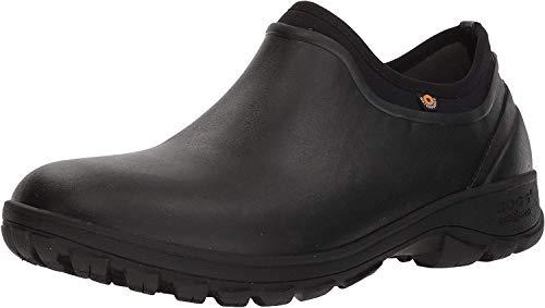 Bogs Men's Sauvie Slip On Waterproof Rain Boot, Black, 12 M US