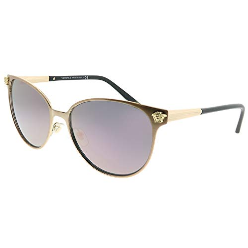 Versace Womens Sunglasses Gold/Pink Metal - Non-Polarized - 57mm
