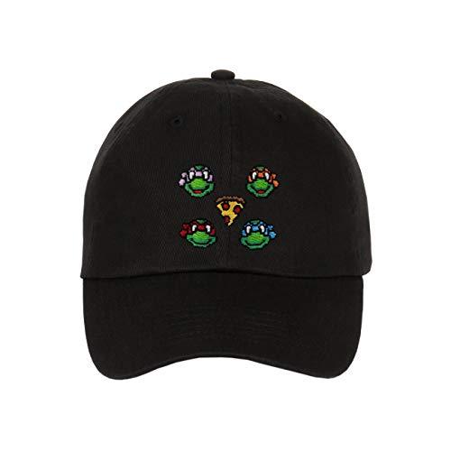 Floral, Bandana, Animal Skin & Custom Embroidered - Snapbacks (Ninja Turtle Black)