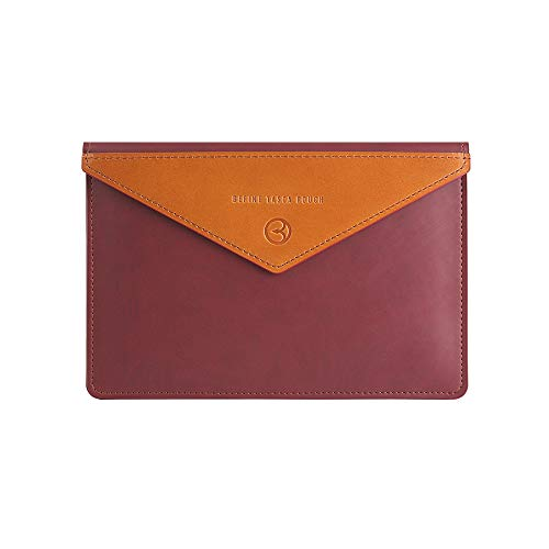 BEFINE 13 inch Premium Leather Tasca Sleeve with Pu Inner Suede with Slim Size Modern and Durable Case Designed by a Craftsmen Compatible for New iPad Pro & MacBook Pro M1, Air M1 (Burgundy)