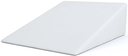FitPlus Bed Wedge, Premium Wedge Pillow Memory Foam 2 Year Warranty, Acid Reflux Pillow with Removable Cover Dr Recommended for Snoring and Gerds