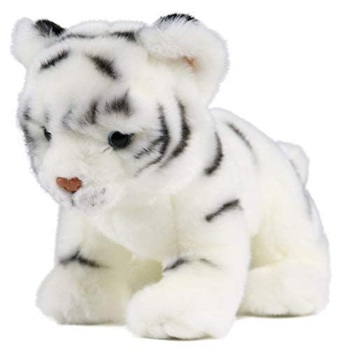 Baby Tiger Stuffed Animal 10 Inches Cute Plush Toy (White)