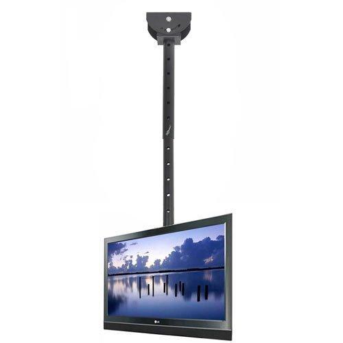 VideoSecu Adjustable Ceiling TV Mount Fits Most 26-65' LCD LED Plasma Monitor Flat Panel Screen Display with VESA 400x400 400x300 400x200 300x300 300x200 200x200mm MLCE7N 1JS