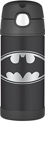 THERMOS FUNTAINER 12 Ounce Stainless Steel Kids Bottle, Batman