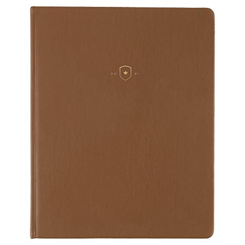 2021 Weekly & Monthly Planner Dapperdesk by Emily Ley for AT-A-GLANCE, 8' x 10', Large, Camel (DD12C-403)