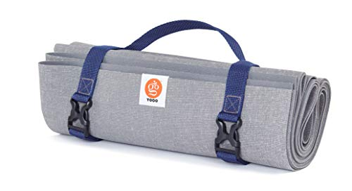 Ultralight Long, Travel Yoga Mat with Attached Straps, Handle, Origami Folding Design for Commuting and Travel