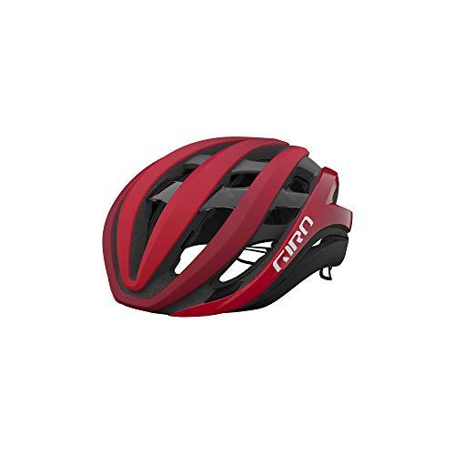 Giro Aether Spherical Adult Road Bike Helmet - Matte Bright Red/Dark Red Fade (2021) - Medium (55-59 cm)