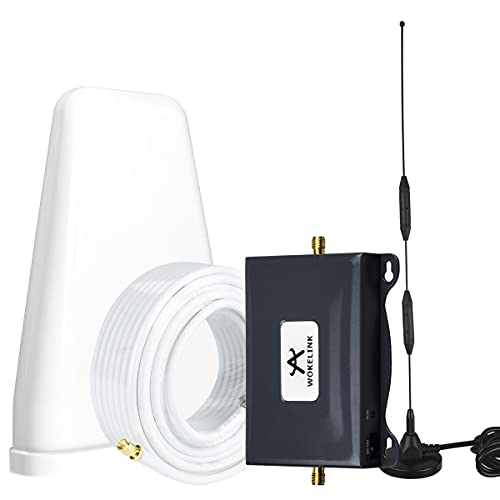 AT&T Cell Phone Signal Booster 5G 4G LTE ATT Signal Booster T-Mobile US Cellular Band12/17 Cell Signal Booster AT&T Cell Phone Booster ATT Cell Extender Signal Amplifier Boost Voice+Data for Home