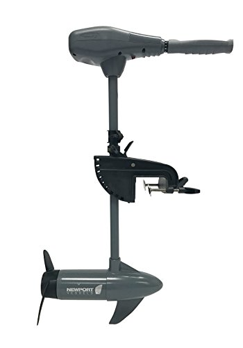 Newport Vessels Kayak Series 55lb Thrust Transom Mounted Saltwater Electric Trolling Motor w/ LED Battery Indicator (24' Shaft)