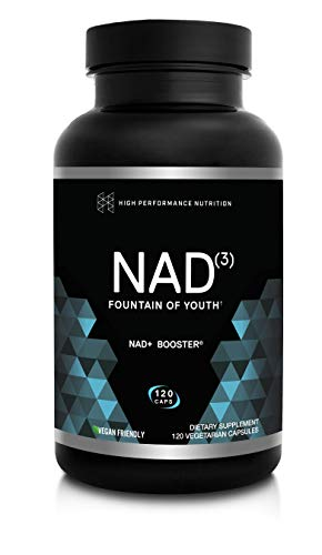 HPN Supplements NAD3 NAD+ Booster | Value Size 2 Month Supply | Clinically Proven & Independently Tested - Metabolic Repair | 311 mg per Serving - 120 Capsules
