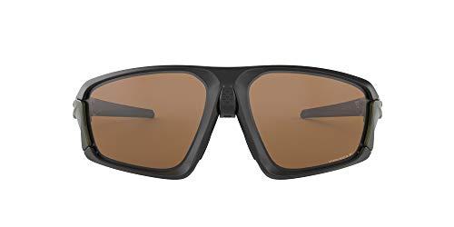Oakley Men's Field Jacket Polarized Iridium Rectangular Sunglasses, MATTE BLACK, 64.0 mm