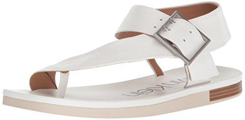 Calvin Klein Women's Rivita Sandal, Platinum White, 5 Medium US