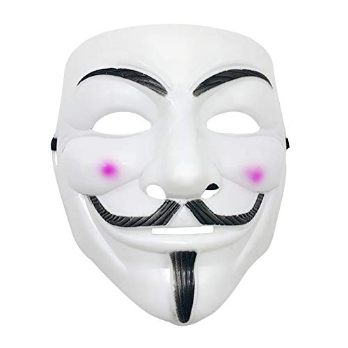 V for Vendetta Mask, Freedom Fighter V ''Hacker Mask Rave Party Halloween Mask Cosplay Anonymous Guy Mask For Adult kids