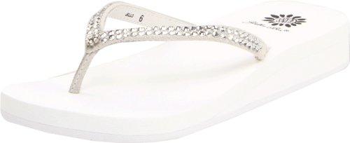 Yellow Box Women's Jello Sandal, White, 7.5 M US