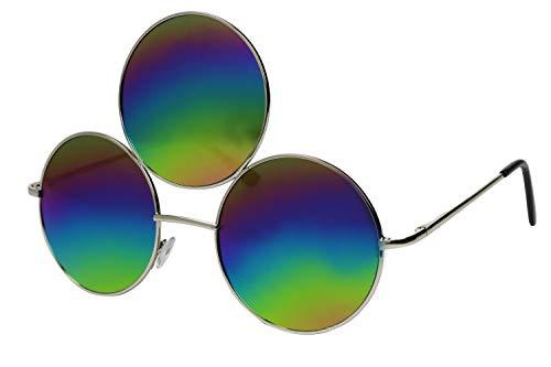 Third Eye Sunglasses Rainbow Multi Colored Mirrored Reflective Lens
