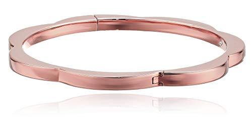 Kate Spade New York Sliced Scallops Hinge Bangle Rose Gold One Size