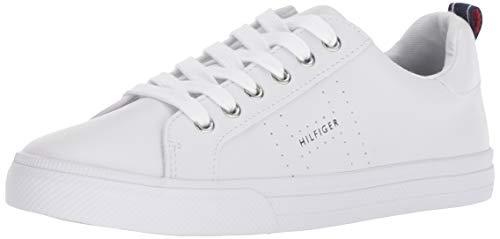 Tommy Hilfiger Women's LELITA Sneaker, White/Blue, 8
