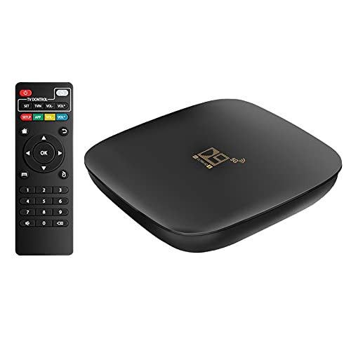 Android TV Box 10.0 - TV Set Top Box Support 2.4GHz/ 5GHz WiFi Bluetooth,4K HDR Smart Streaming Media Player,TV Box with HDMI Cable, Ethernet