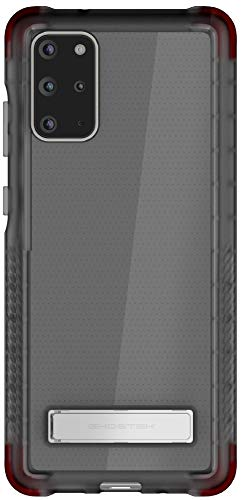 Ghostek Covert Galaxy S20 Plus Clear Case with Built-in Stand and Secure Hand Grip Super Thin Slim Fit Design and Wireless Charging Compatible Phone Cover for 2020 Galaxy S20+ 5G (6.7 Inch) - (Smoke)