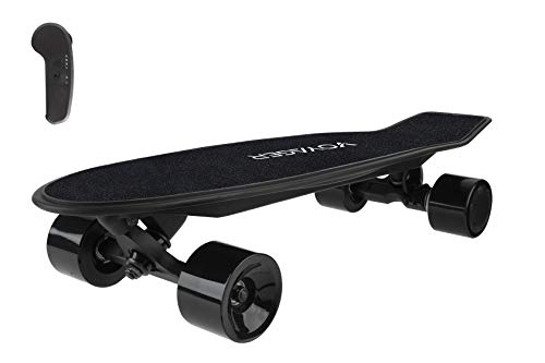 Voyager Neutrino Compact Cruiser Electric Skateboard with Bluetooth Remote | Powerful 350W Brushless Electric Motor, 12.5 MPH Max Speed, 7 Mile Range, Wireless Bluetooth Controller (Black)