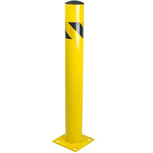 Bollard Post - Steel Safety Barrier Protection- Yellow Powder Coat 4.5' Diameter 36' Tall BW4536