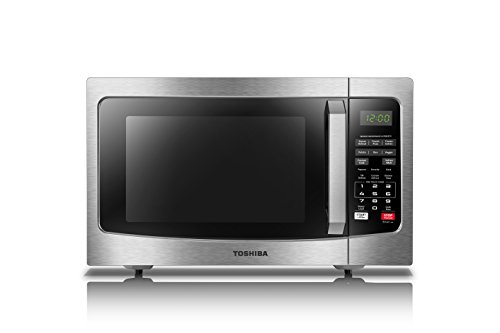 Toshiba EM131A5C-SS Microwave Oven with Smart Sensor, Easy Clean Interior, ECO Mode and Sound On/Off, 1.2 Cu.ft, Stainless Steel
