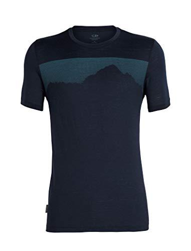 Icebreaker Merino 104126 Men's Tech Lite Short Sleeve Crew Neck Shirt, Small, Midnight Navy