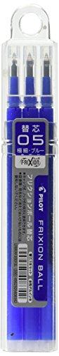 Pilot Frixion Ball Pen Refill 05 - Pack of 3, Blue (LFBKRF30EF3L)