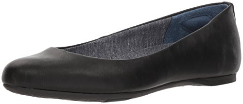 Dr. Scholl's Shoes Women's Giorgie Ballet Flat, Black Smooth, 8 M US