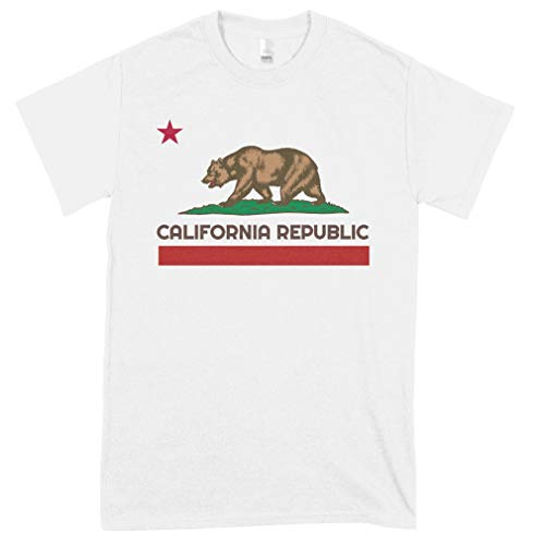 Cali California Republic California T-Shirt California Design Shirts Soft Women Handmade T-Shirt Art Tee 80S Cheap Design